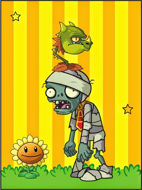Plants vs Zombies: Free Printable Cards or Invitations.