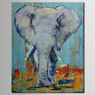 現代 アートなモダン キャンバスアート アートパネル 壁掛け 油絵の特大抽象画1枚で1セット 動物 哺乳類 象 エレファント ぞうさん【納期】お取り寄せ2~3週間前後で発送予定【送料無料】ポイント