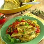Crespelle estive con ricotta, zucchine e pomodoro fresco