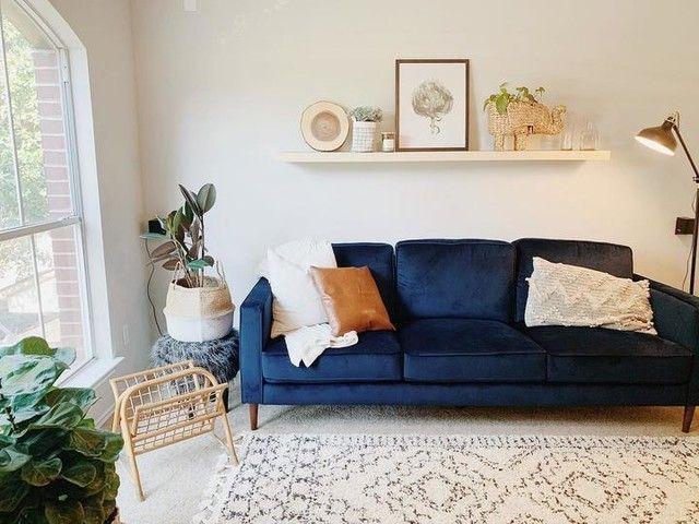 Fairfax Denim Velvet 90 Sofa In 2021 Blue Sofas Living Room Velvet Sofa Living Room Blue Living Room Decor