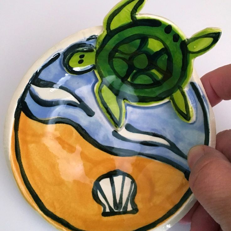 The cutest sea turtle bowl! Great for a soap dish or ring dish.