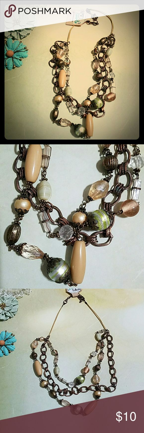 Boho Necklace This necklace is made to have a beautiful layered look. Very bohemian. Costume jewelry. Jewelry Necklaces