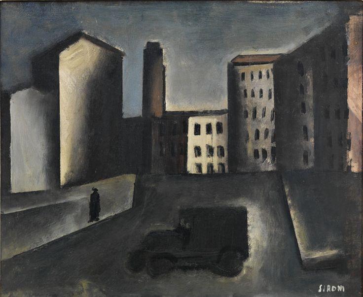 """Periferia con camion (Mario Sironi, 1920, MART, Rovereto """"La Magnifica…"""