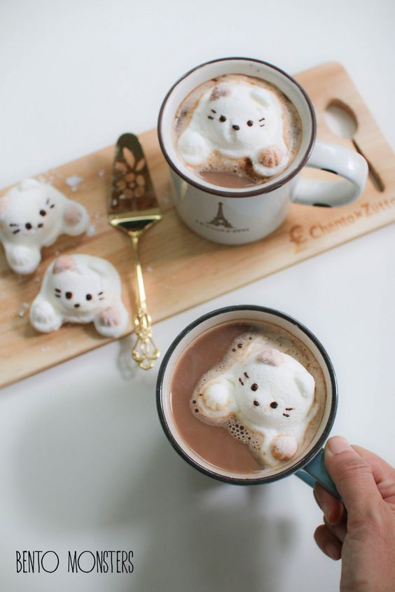 (1) Cat Marshmallows. | Cute food | Pinterest