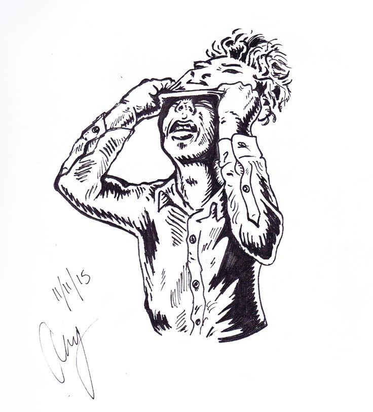 Face Peel - Anthony Keutzer #Mental #Illness #Face #Peel #art #madness #ink #fallout #comic