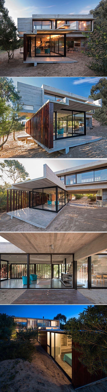 Df5411 esquemas de color casa exteriores con persianas negras - Casa Mr Do Arquiteto Luciano Kruk Materiais Concreto Dobrado E Persianas De