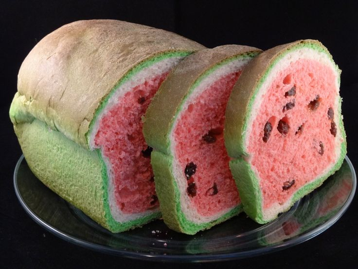 Watermelon Look-Alike Raisin Bread- with yoyomax12 Recipe. A recipe by [yoyomax12 - the diet free zone (YouTube Channel)](http://www.youtube.com/channel/U