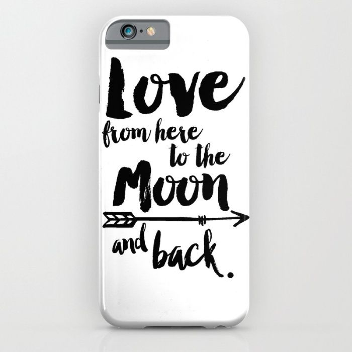 Love from here to the Moon and back iPhone & iPod Case by ArtMii