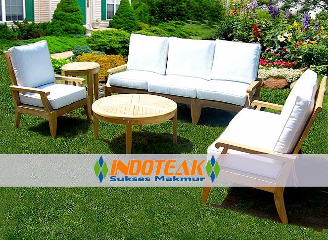 Sofa Patio Furniture Manufacturer Teak Deep Seating Producer