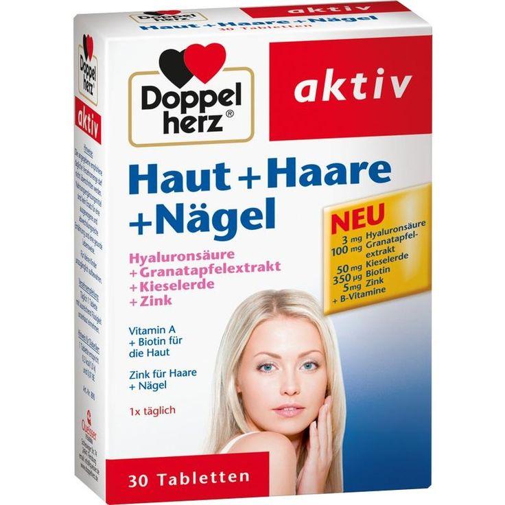 DOPPELHERZ Haut+Haare+Nägel Tabletten 30St #haut #haare #nägel #schönheit #beauty #gesund #gesundheit #doppelherz #versandapotheke #versand #apotheke #health