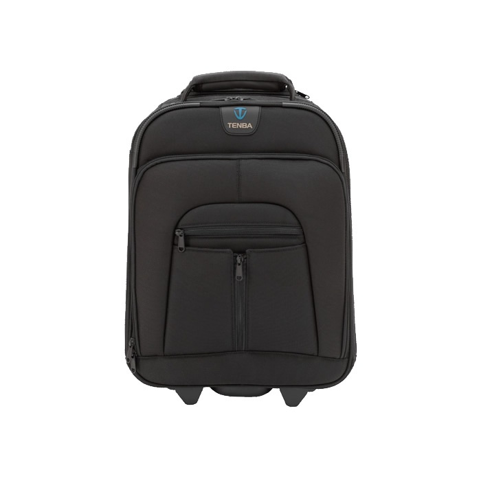 """£189 The Roadie II Compact Photo/Laptop case holds a medium sized professional DSLR, HD video or medium format camera system, as well as a laptop (up to 15 inches), plus the normal """"briefcase"""" assortment of important gadgets, documents and accessories. The Compact Roadie meets international airline carry-on standards—and it even fits under many full-size airline seats."""