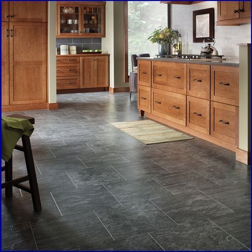 Gray Slate Kitchen Floor: Slate Flooring, Grey Slate Tile And Slate Kitchen