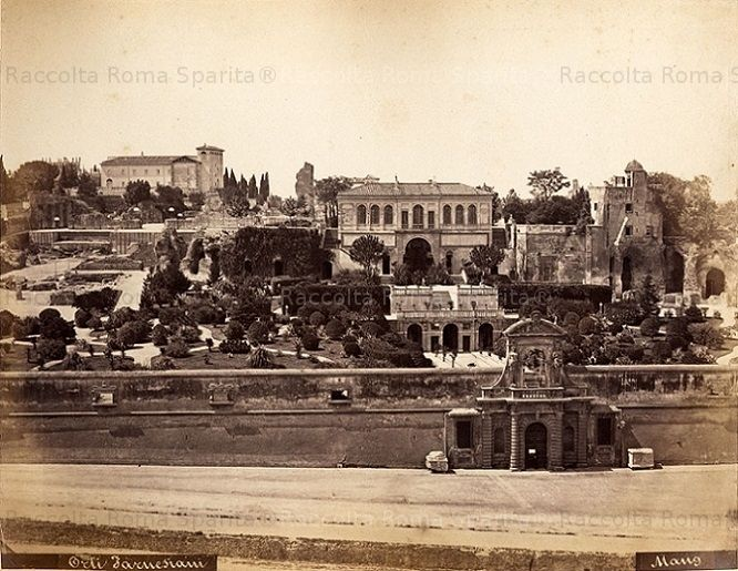 Giardini dei Farnese sul Palatino Anno: 1874 ca