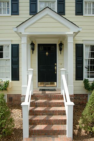Exterior Doors Porticos And Small Houses On Pinterest