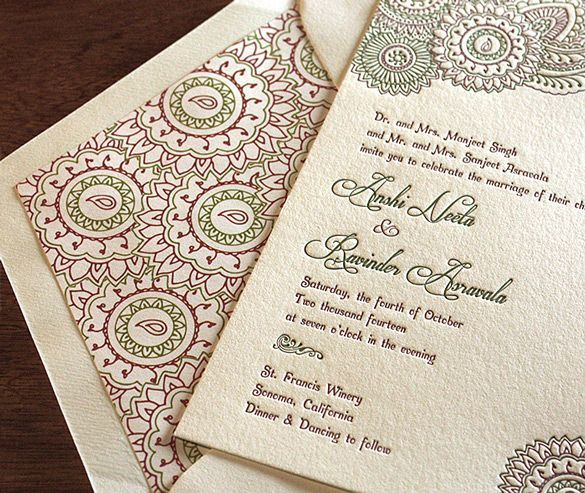 9 Best Classic Indian Wedding Invitations Images On Pinterest