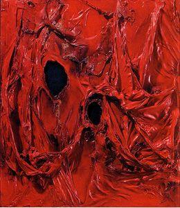 Alberto Burri, Red Plastic, 1964