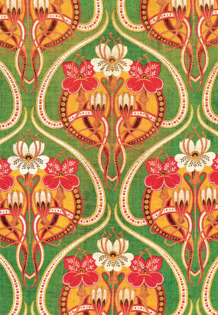 patterns prints textile pattern russian nouveau motif textiles deco 1900 fabric printed floral roller designer illustration uploaded user