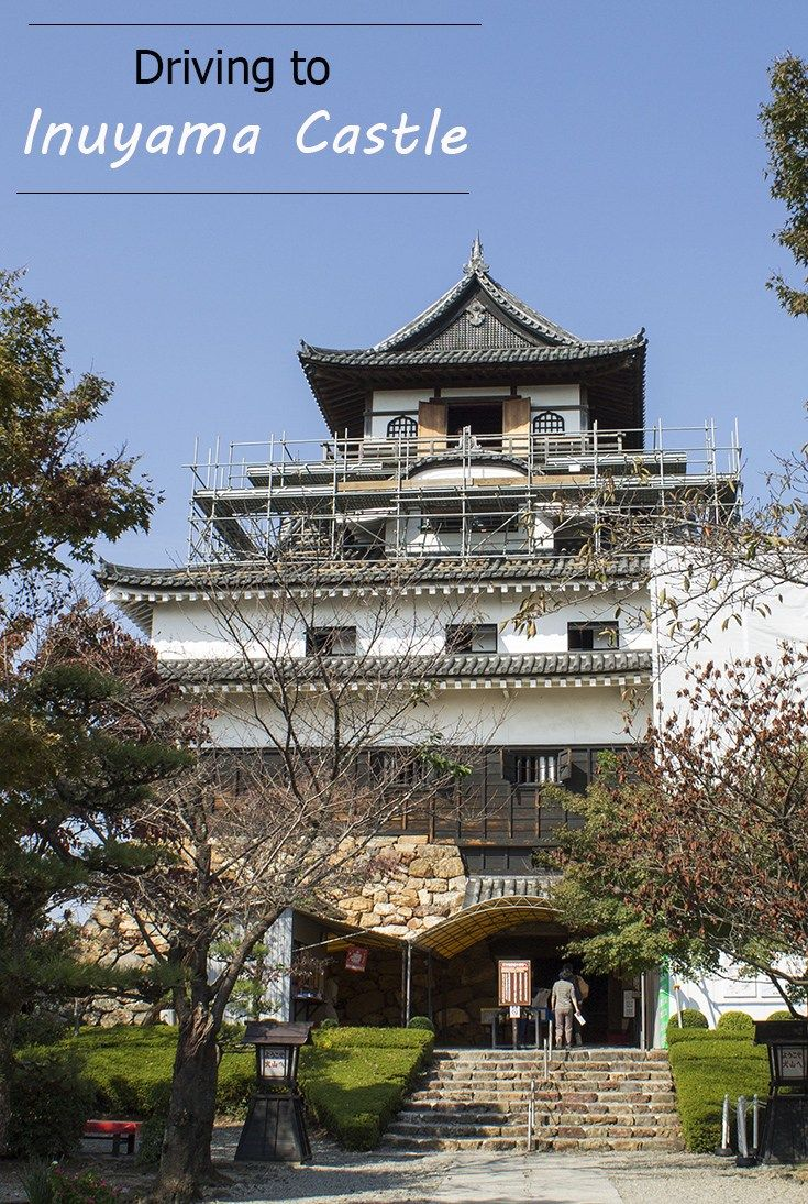 Driving to Inuyama Castle. Family travel. Japan travel.