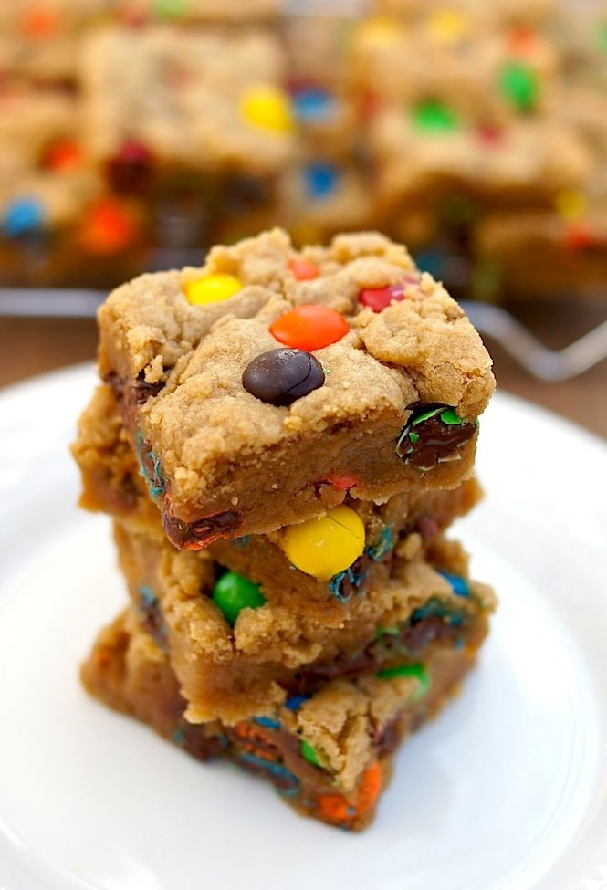 These are wonderfully good!!! Our home group ate the entire pan! M Cookie Bars