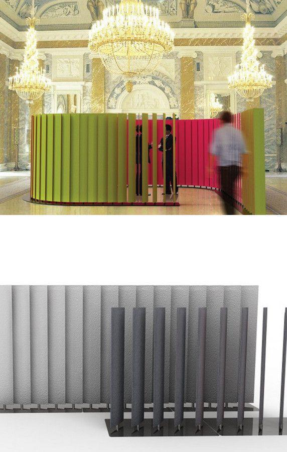 Sound absorbing modular desk #partition BUZZIBLINDS by Buzzispace | #design Alain Gilles @BuzziSpace