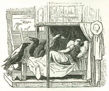 Die sieben Raben, Illustration von Ludwig Richter                                                                                                                                                                                 Mehr