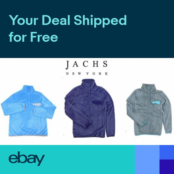 NEW Womens Jachs NY Cabin Sherpa Fleece Mock Neck Pullover Sweater w// Pocket