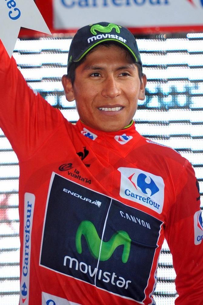 Vuelta a España 2014 - Stage 9: Carboneras de Guadazaón - Aramón Valdelinares 185km - Nairo Quintana (Movistar) in red!