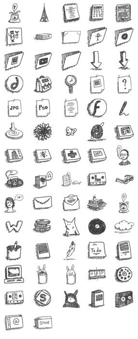 Free Icons Round-Up - Sketchy icons