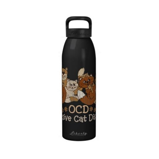 OCD Obsessive Cat Disorder Drinking Bottle