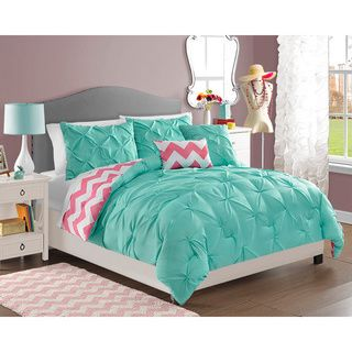 VCNY Chelsea 4-piece Reversible Comforter Set | Overstock.com Shopping - The Best Deals on Kids' Comforter Sets