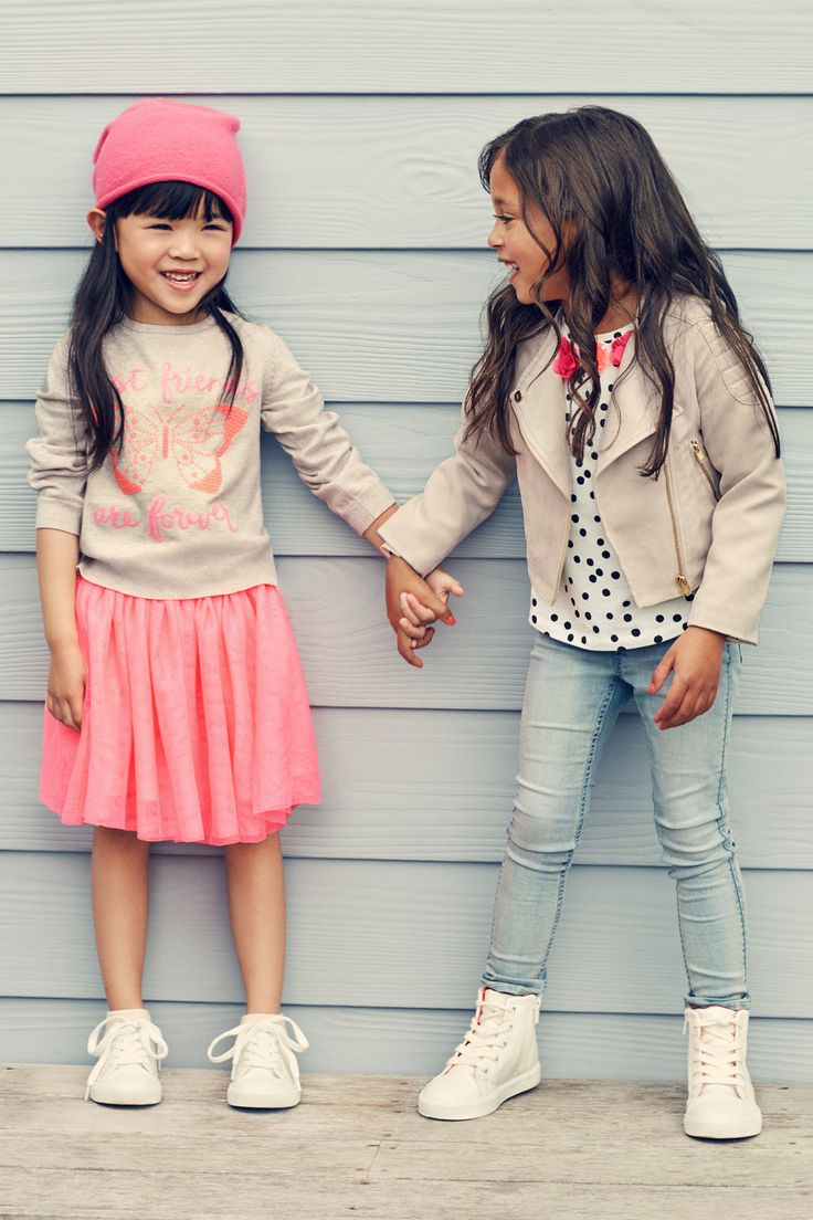 Best friends are forever! Coordinate accordingly in bubblegum pinks & polka-dot prints. | H&M Kids