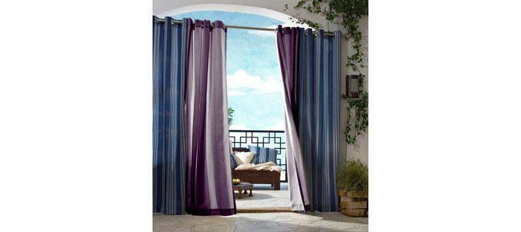 Outdoor Decor� Gazebo Solid Indoor/Outdoor Grommet Top Curtain Panel