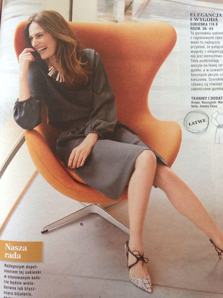 A delicate dress / Burda PL nr 8/2015