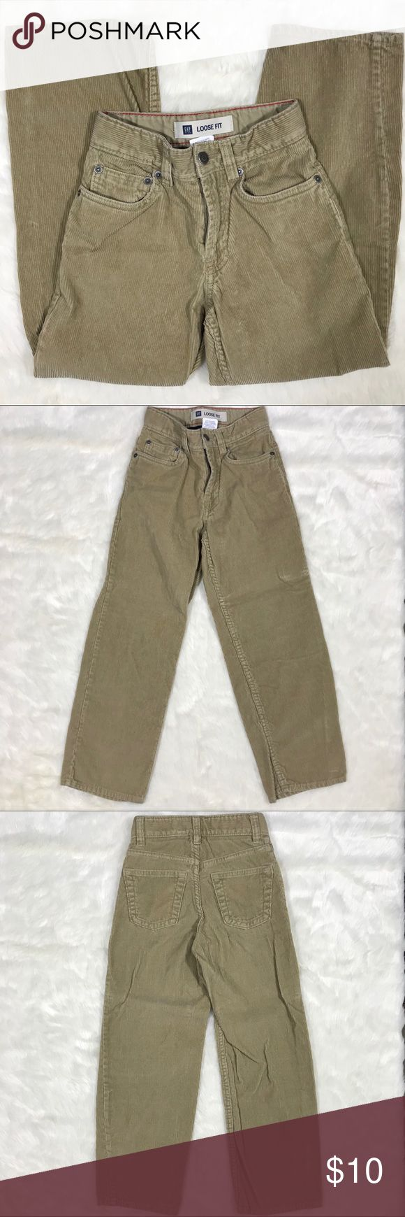 "Boy GAP Corduroy Loose Fit Pants Size 7 Slim Inseam - 21.5"" Rise - 8"" Total length - 30"" Waist - 20"" Condition - excellent! Fair offers welcomed GAP Bottoms Casual"