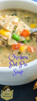 Chicken Pot Pie Soup_ So kid friendly and EASY!  Step-by-step photos.