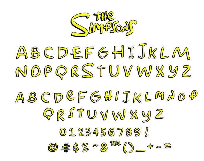 Simpsons Bundle Simpsons Installable Font Simpsons Font Svg Simpsons Clipart Png Instant Download Nombres Japoneses Fiesta De Simpsons Los Simpson