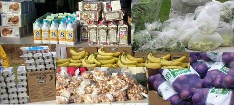 of food from some of our mobile pantry sites there are 2 sites open