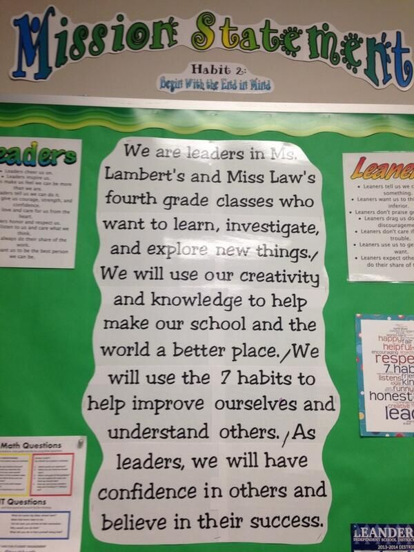 33 best Leader in Me 1st Grade images on Pinterest Salts - new 7 examples of mission statement