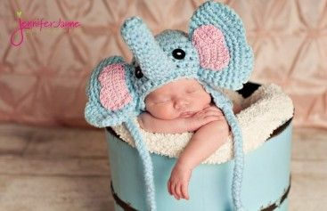 Crochet Animal Elephant Hat Pattern