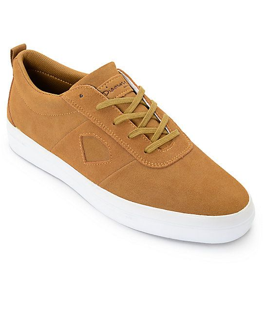 With an all suede upper perfect for skateboarding wear and tear, the Diamond Supply Co. Icon Light Brown Suede Skate Shoes are a great combination of simplicity and style. The shoes feature cutout Diamond logos on the sides, a vulcanized outsole for board
