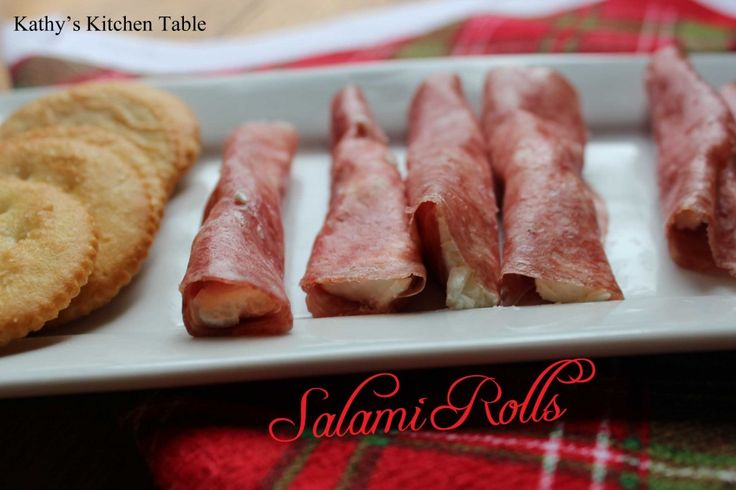 Salami Rolls | Kathy's Kitchen Table - These are on our appetizer tray every Christmas Eve!