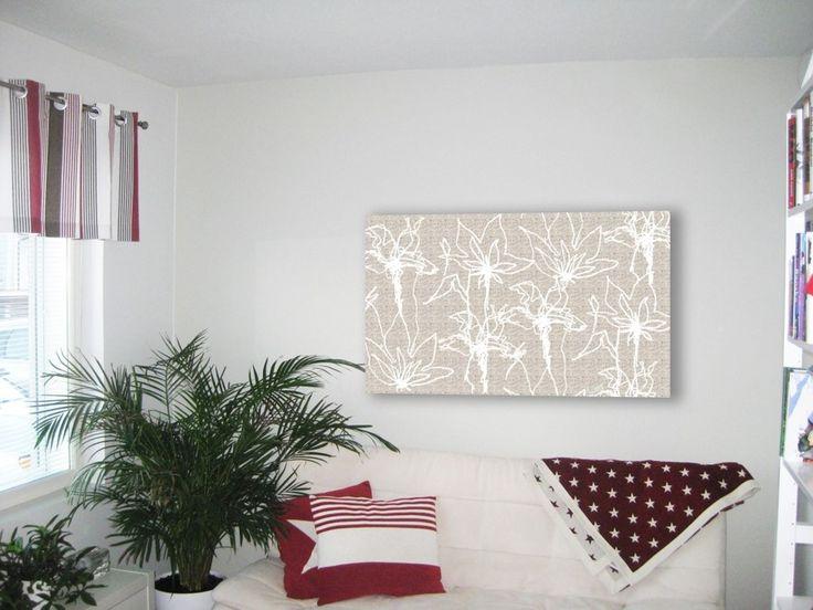 Kuura-seinätekstiili //  Seinätekstiilin suunnitteleminen yksityiskodin työhuoneeseen // Tilaaja/Client:Lamberg // Suunnittelija/Designer: Laura Saali, 2014