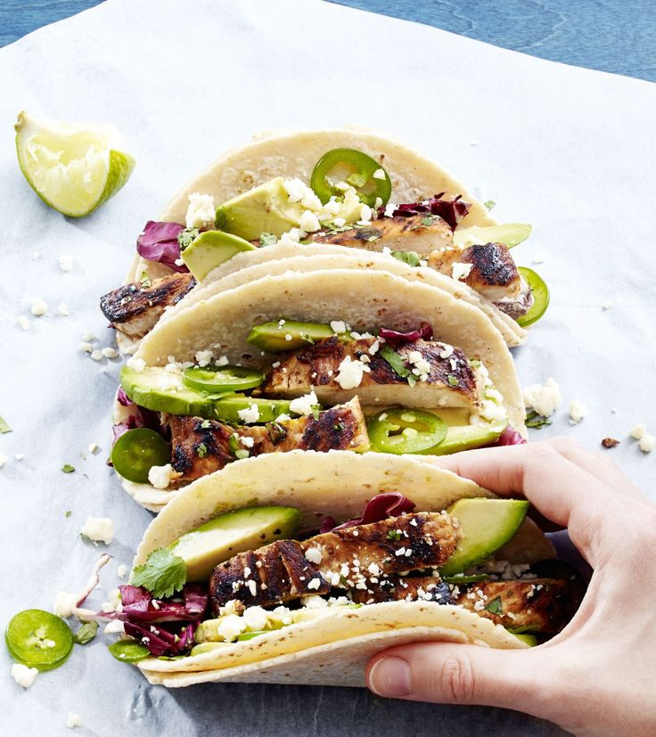 Tequila-Lime Chicken Tacos The liquor is for so much more than shots.