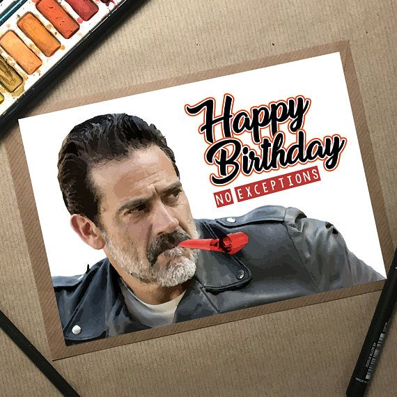 Walking Dead Card Negan Birthday Card Funny Birthday Card #birthdaycard #funnybirthdaycard #handmadecard #thewalkingdead