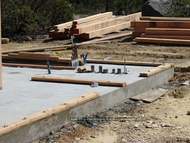how to build a house on a cement slab
