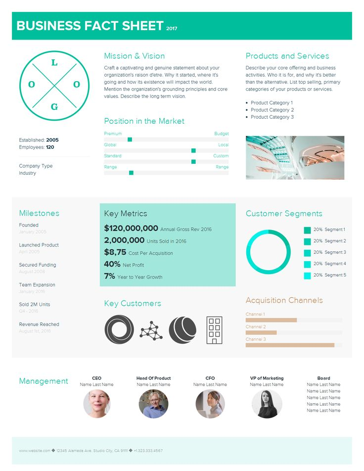 fact sheet template, one pager template