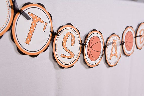 Basketball IT'S A BOY Baby Shower Banner by getthepartystarted