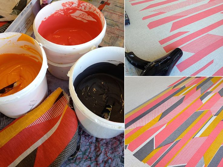 Tamasyn Gambell | The stages of Textured Stripe printing | www.tamasyngambell.com