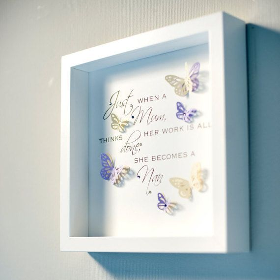 Beautiful handmade box frame picture with a quote & 3d