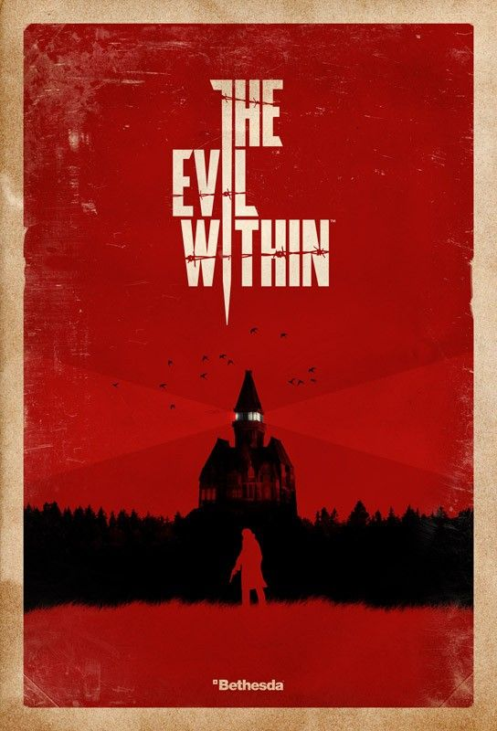 The Evil Within Asylum Screenprint Poster OLimited Edition Of 500 Printed OIndividually Numbered